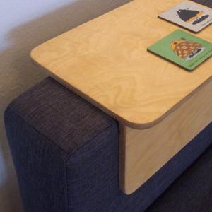 armlehne für sofa aus multiplex, birke